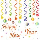 新年快乐构成 库存照片