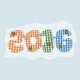 新年快乐的五颜六色的文本2016年 免版税库存照片