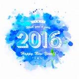 新年快乐的典雅的贺卡 向量例证