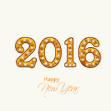 新年快乐的创造性的文本2016年 免版税库存照片