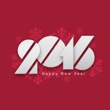 新年快乐的创造性的文本2016年 库存照片