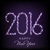 新年快乐的时髦的文本2016年 免版税库存图片