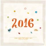 新年快乐的贺卡2016年 免版税库存照片