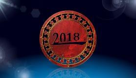 新年快乐象,唱歌, 3D例证 免版税库存图片
