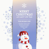 新年快乐雪人设计模板 免版税库存照片
