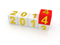 新年快乐2014年。 库存照片