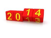 新年快乐2014年。 免版税图库摄影