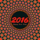 新年快乐2016五颜六色的贺卡 图库摄影