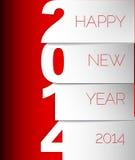 新年快乐2014传染媒介卡片 免版税库存照片
