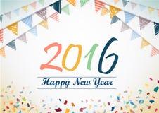 新年快乐2015传染媒介设计 库存照片