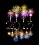 新年快乐- 2015做了一个闪烁发光物 免版税图库摄影