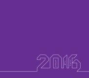 新年快乐2016年 创造性的贺卡设计 普遍背景 免版税库存照片