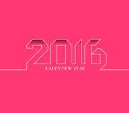 新年快乐2016年 创造性的贺卡设计 普遍背景 图库摄影