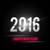 新年快乐2016卡片传染媒介设计 免版税库存图片