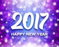 新年快乐2017年贺卡设计 库存例证