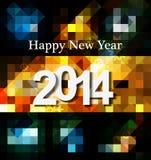 新年快乐贺卡2014年庆祝mosaice纹理 免版税图库摄影