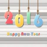 新年快乐2016年贺卡 免版税库存图片