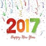 新年快乐2017年庆祝背景 皇族释放例证