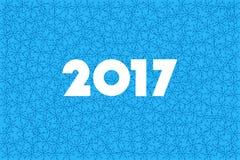 新年快乐2017年 文本设计 平的传染媒介例证 免版税库存照片