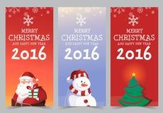新年快乐2016年横幅设计 库存图片