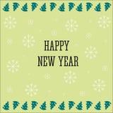 新年快乐2017年背景 日历模板 在庆祝背景的五颜六色,手拉的纸字体 2007个看板卡招呼的新年好 v 免版税图库摄影