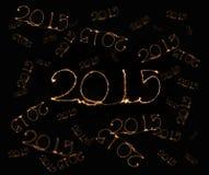 新年快乐- 2015年闪烁发光物 免版税库存照片