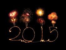 新年快乐- 2015年闪烁发光物 免版税图库摄影
