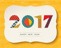 新年快乐2017颜色抽象贺卡 免版税图库摄影