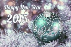 新年快乐2015年,被定调子的图象 库存图片