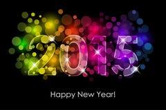 新年快乐- 2015五颜六色的背景 免版税库存照片