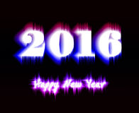 新年快乐2016年 图库摄影