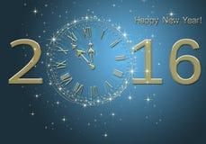 新年快乐2016年 免版税库存照片