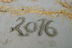 新年快乐2016年 免版税库存图片