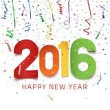 新年快乐2016年 皇族释放例证