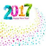 新年快乐2017年 向量例证