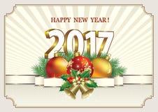新年快乐2017年 免版税库存图片