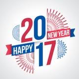 新年快乐2017年 库存例证