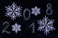 新年快乐- 2018年 免版税库存图片