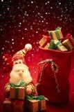 新年2016年 快活的圣诞节 圣诞老人和 免版税库存照片
