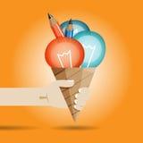 新主意冰淇凌 免版税图库摄影