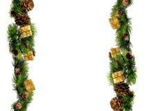 新年或圣诞节装饰边界设计 库存照片