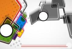 新兴技术网络立方体 免版税图库摄影