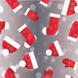新年无缝的样式 不尽的圣诞节模板 免版税图库摄影