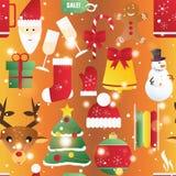 新年无缝的样式 不尽的圣诞节模板 库存照片