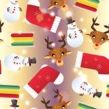 新年无缝的样式 不尽的圣诞节模板 免版税库存图片