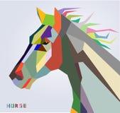新年2014时髦样式的马头标志  免版税图库摄影