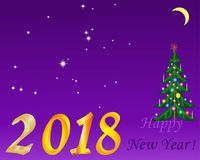 新年星座假日树 免版税库存照片