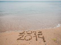 新年2014年是以后的概念 免版税库存图片