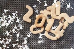 新年2014年曲奇饼 库存照片
