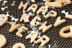 新年曲奇饼 库存图片